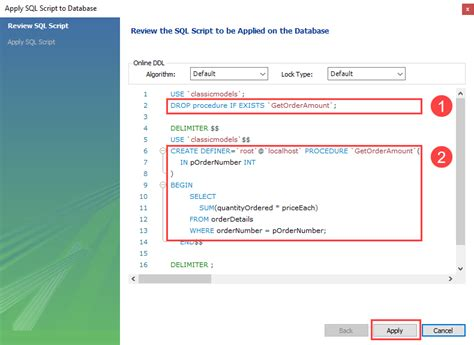 How to Alter a Stored Procedure in MySQL