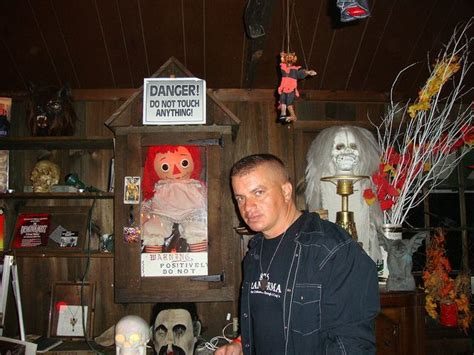 Annabelle the Haunted Doll at the Warrens Museum of Occult