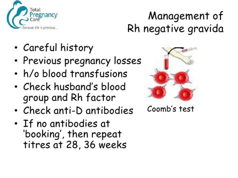 Management of the Rhesus Negative Mother