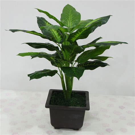Large 50CM Evergreen Artificial Plant 25 Leaves Lifelike