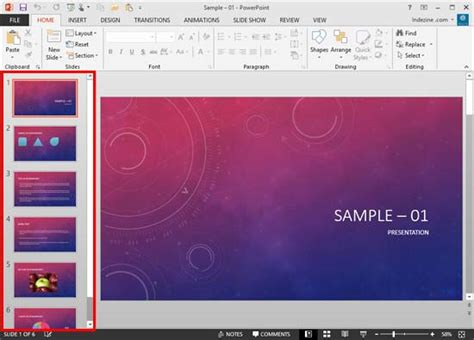 Slides Pane in PowerPoint 2013 for Windows