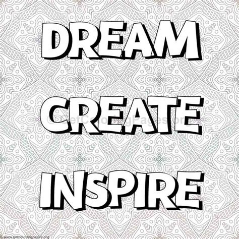 Inspirational Word Coloring Pages #12 – GetColoringPages