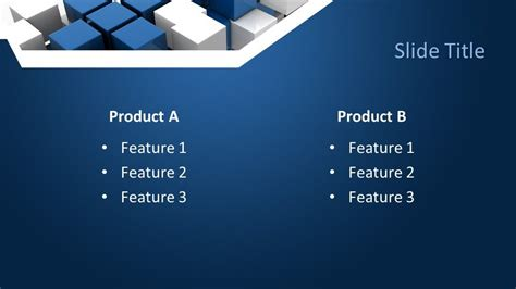 Free Blue Abstract PowerPoint Template - Free PowerPoint