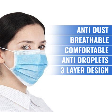 3-Layer Disposable Face Mask – Core Supply Australia