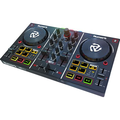 NUMARK Party Mix 2-Channel DJ Controller With Built In