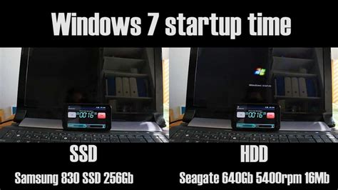 SSD vs HDD startup time - YouTube