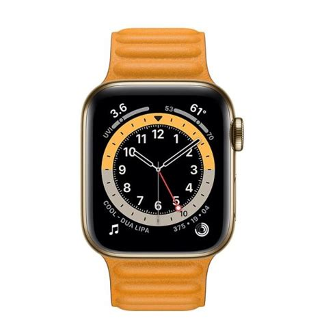 Apple Watch Series 6 Gold Stainless Steel Case with