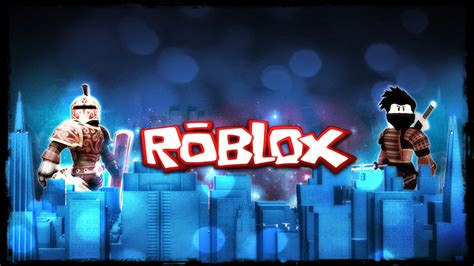 Roblox Characters On Buildings In Blue Background HD Games